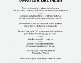 Menú Día del Pilar Restaurante Celebris
