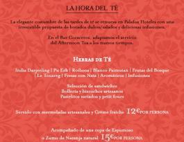 La hora del té Coraceros